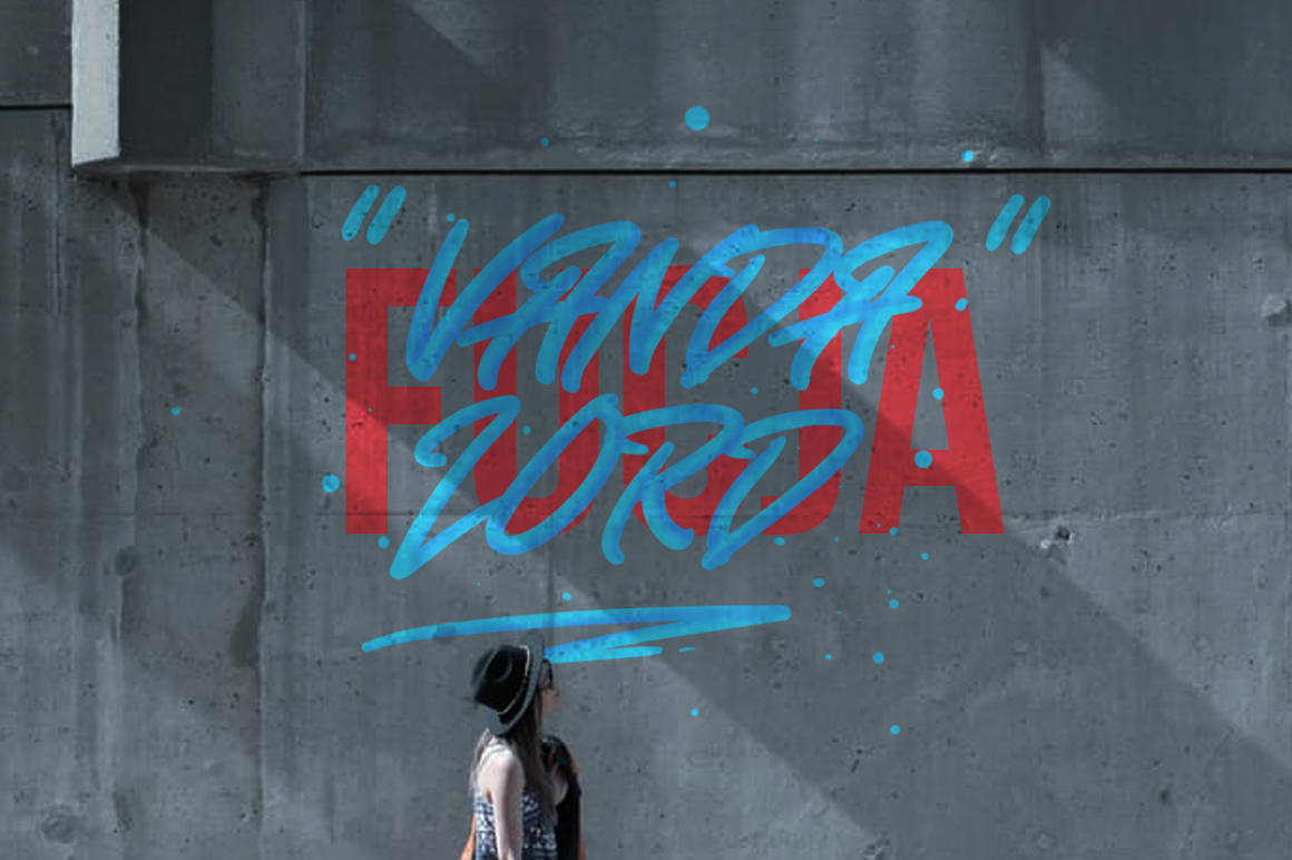 Vandalord Grafiti Script example image 5