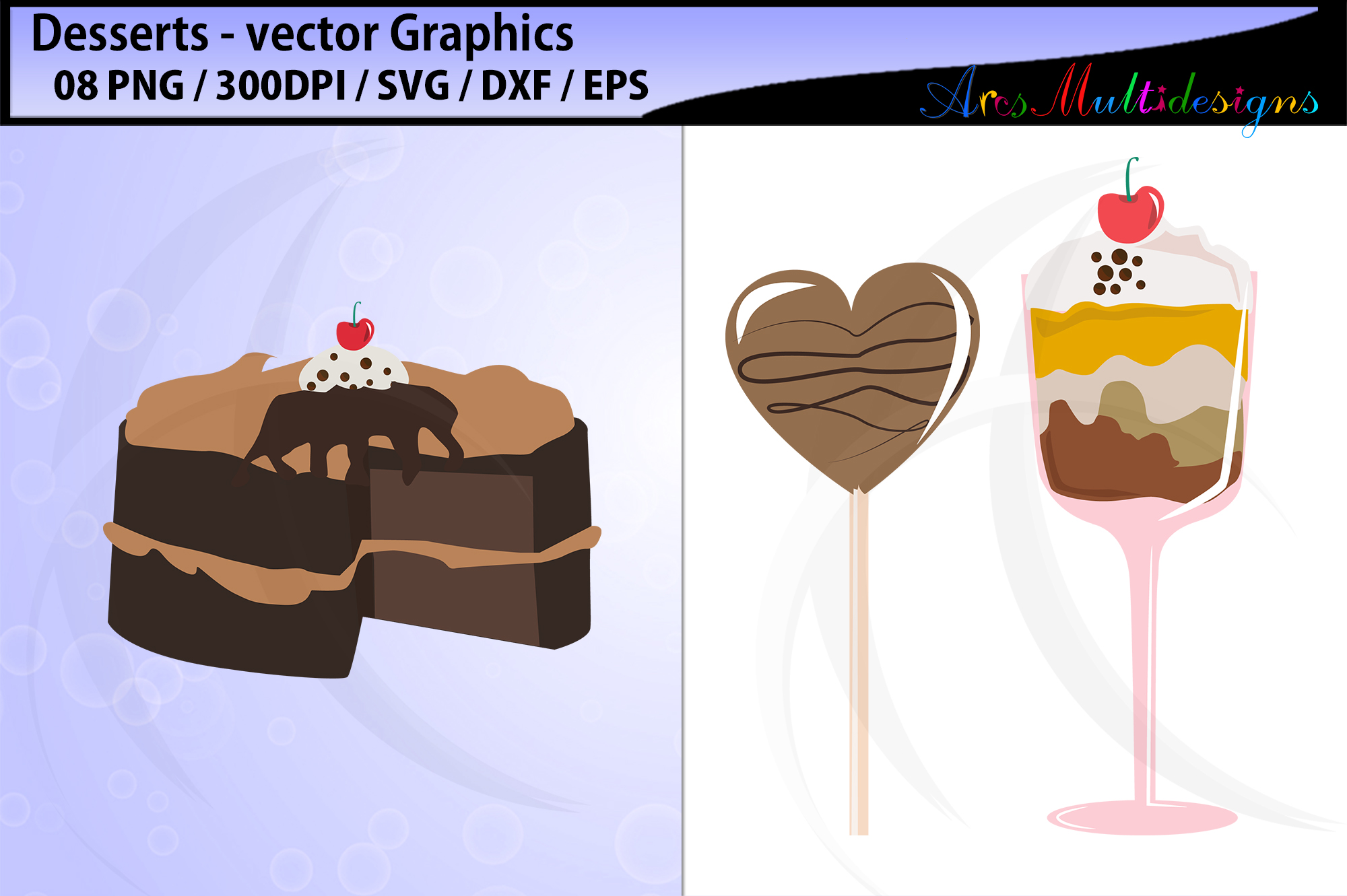 desserts vector svg graphics / desserts clipart example image 2