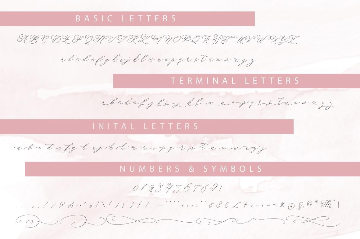 Morning tea. Script font. example image 13