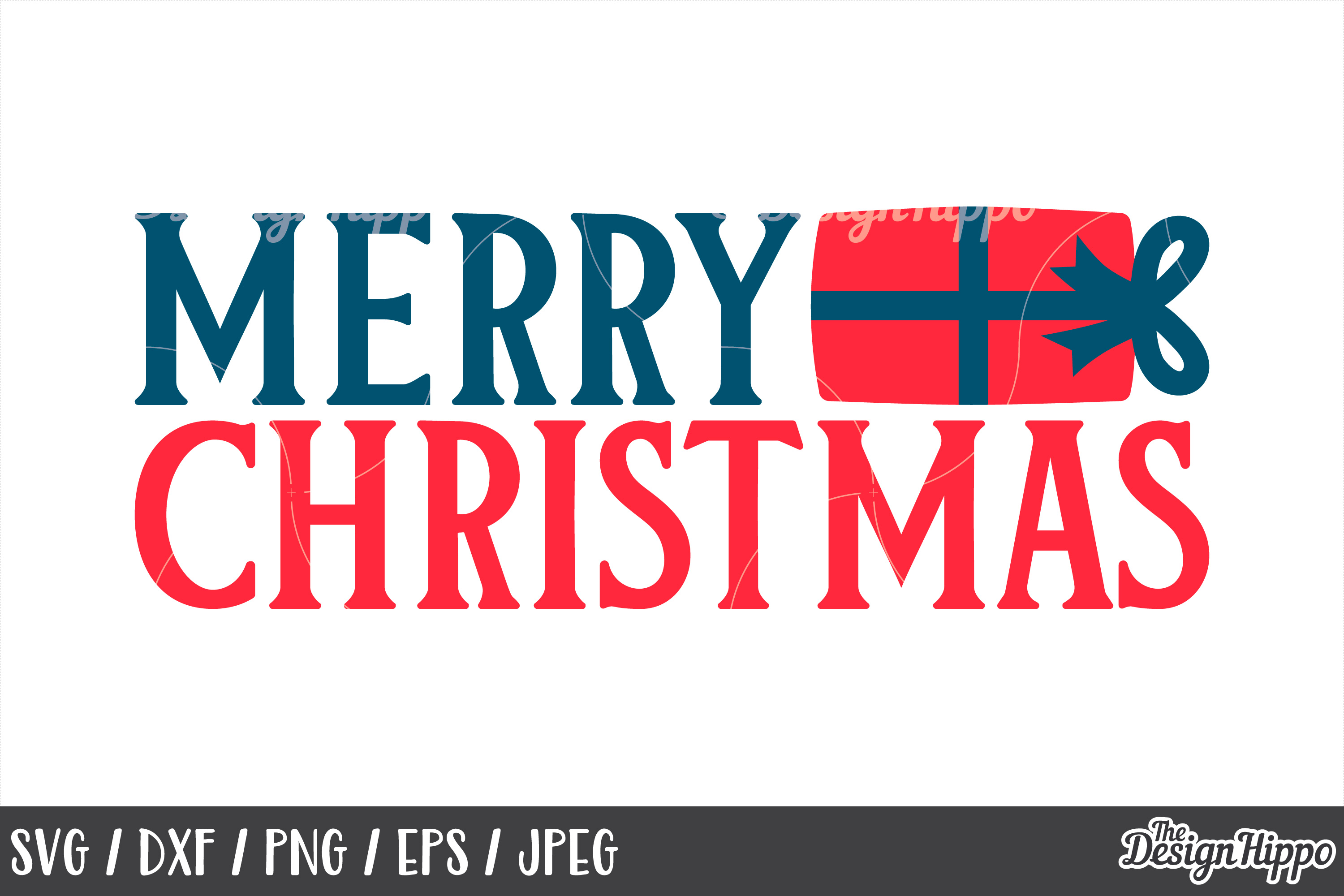 Christmas, Merry Christmas SVG, Gift, DXF, PNG, Cut Files example image 1