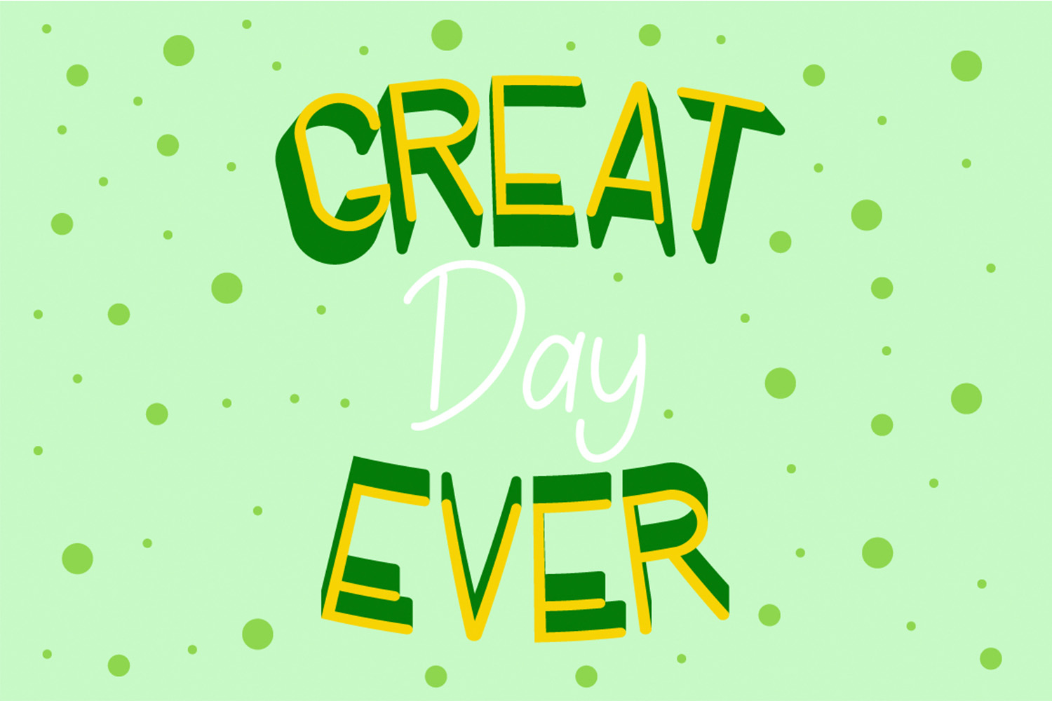 Lucky Green Font Duo example image 4