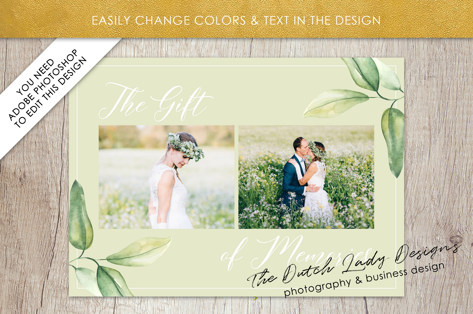 Photo Gift Card Template for Adobe Photoshop - #53 example image 4