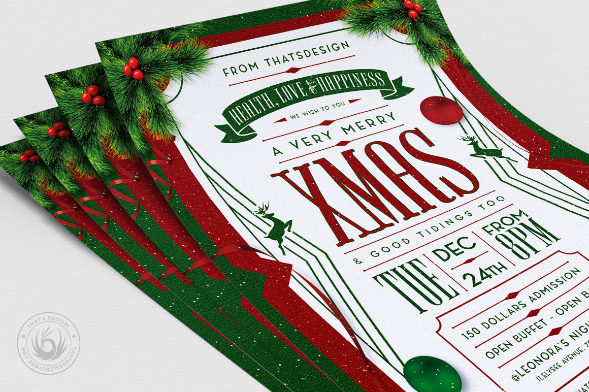 Christmas Eve Flyer Template V8 example image 5