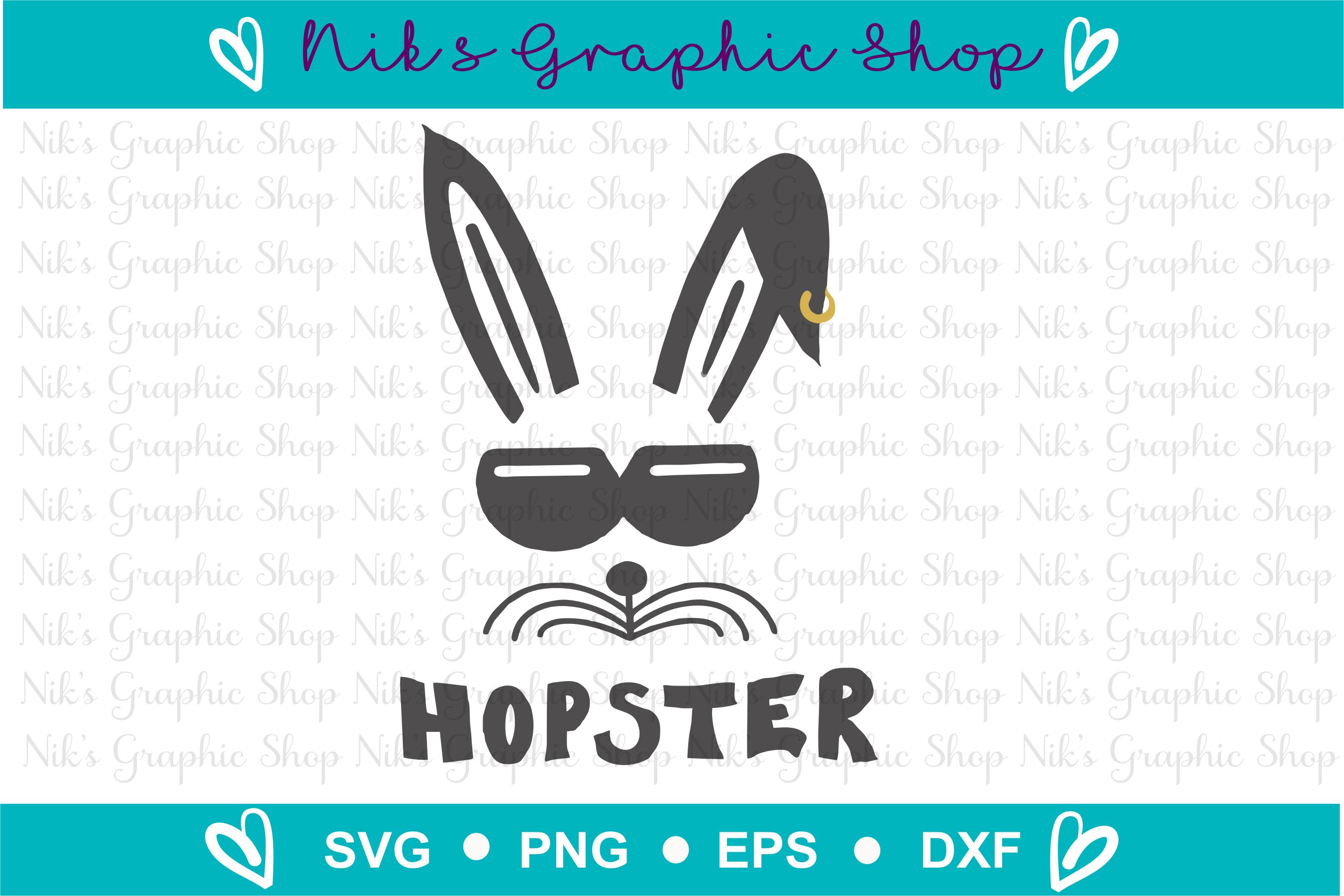 Hopster Svg, Easter Svg, Bunny Svg, Easter Cut File, Funny example image 2