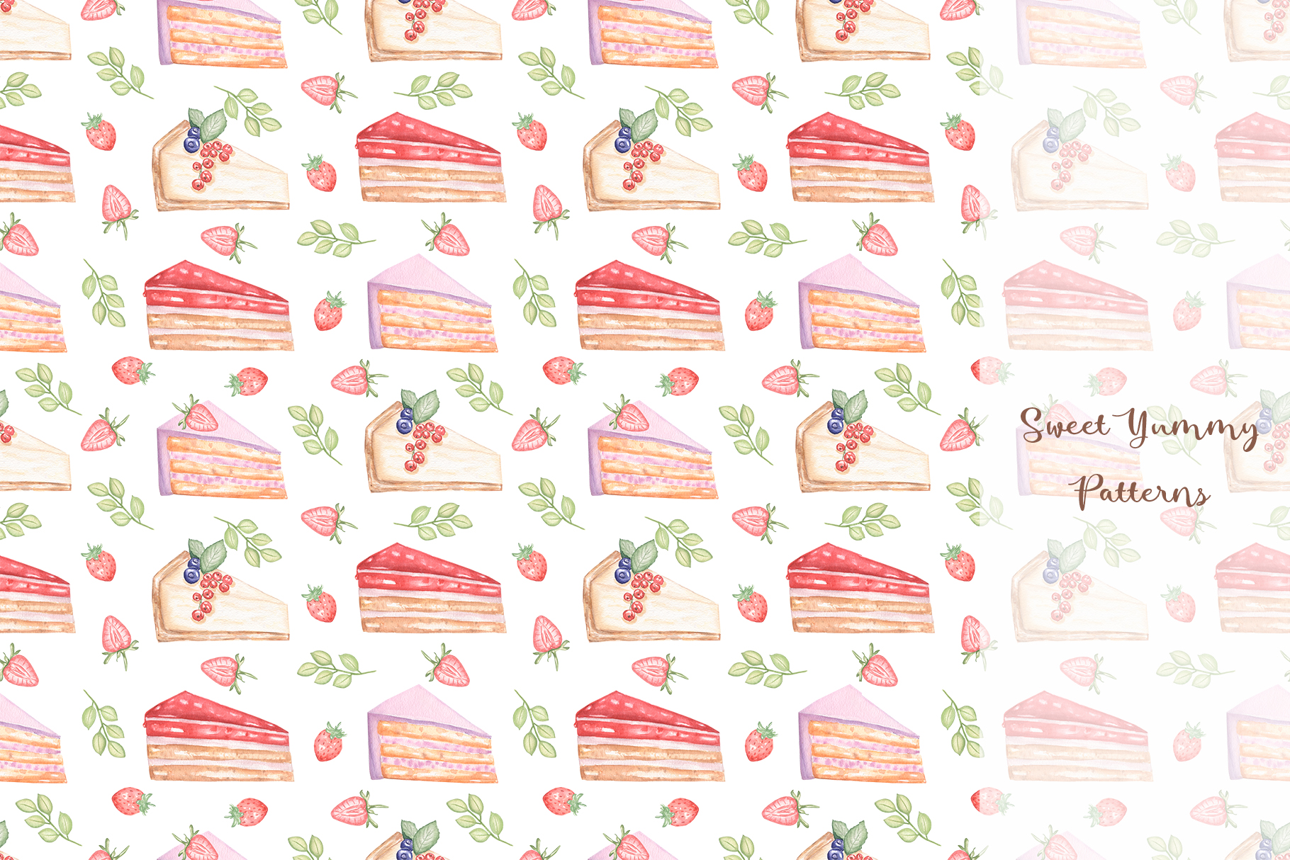 Sweet Yummy Patterns Collection example image 11