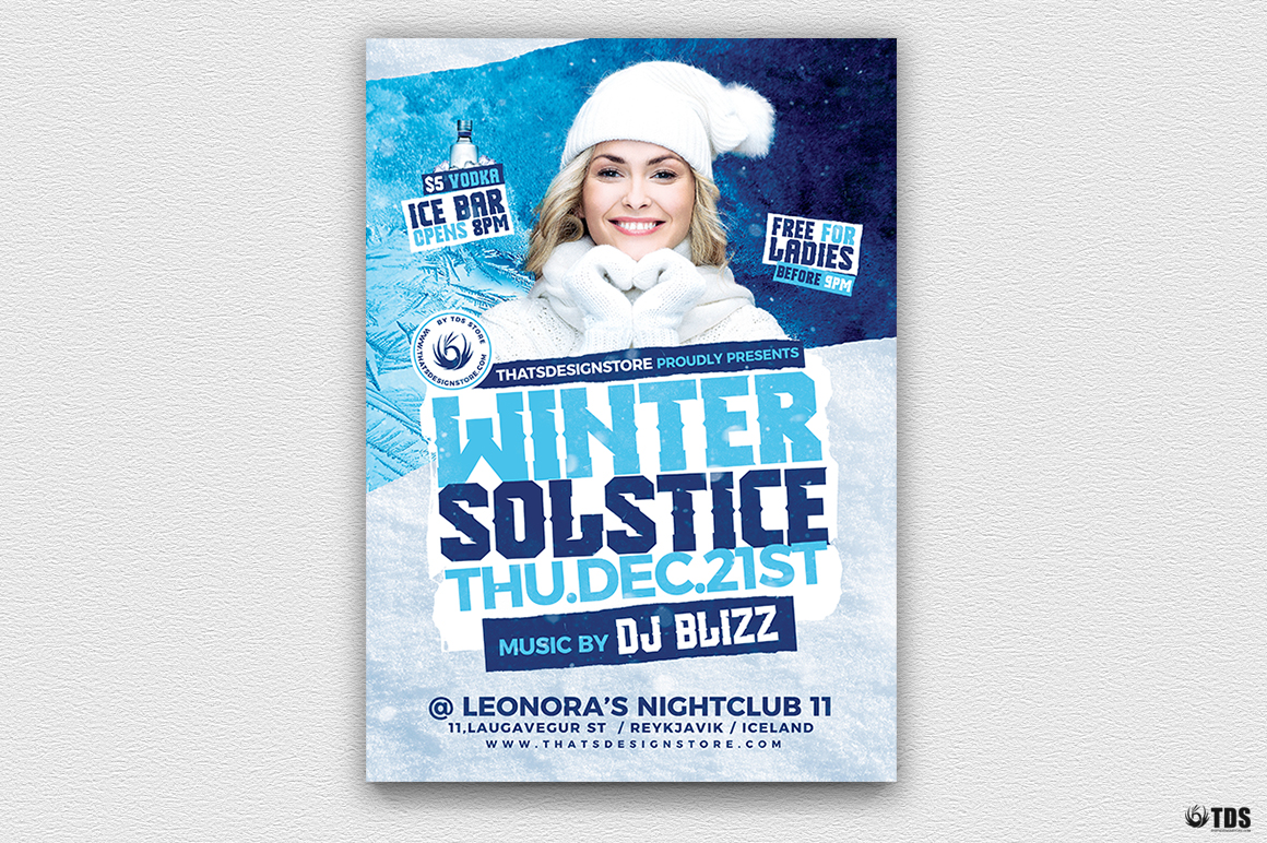 Winter Solstice Flyer Template V4 example image 2