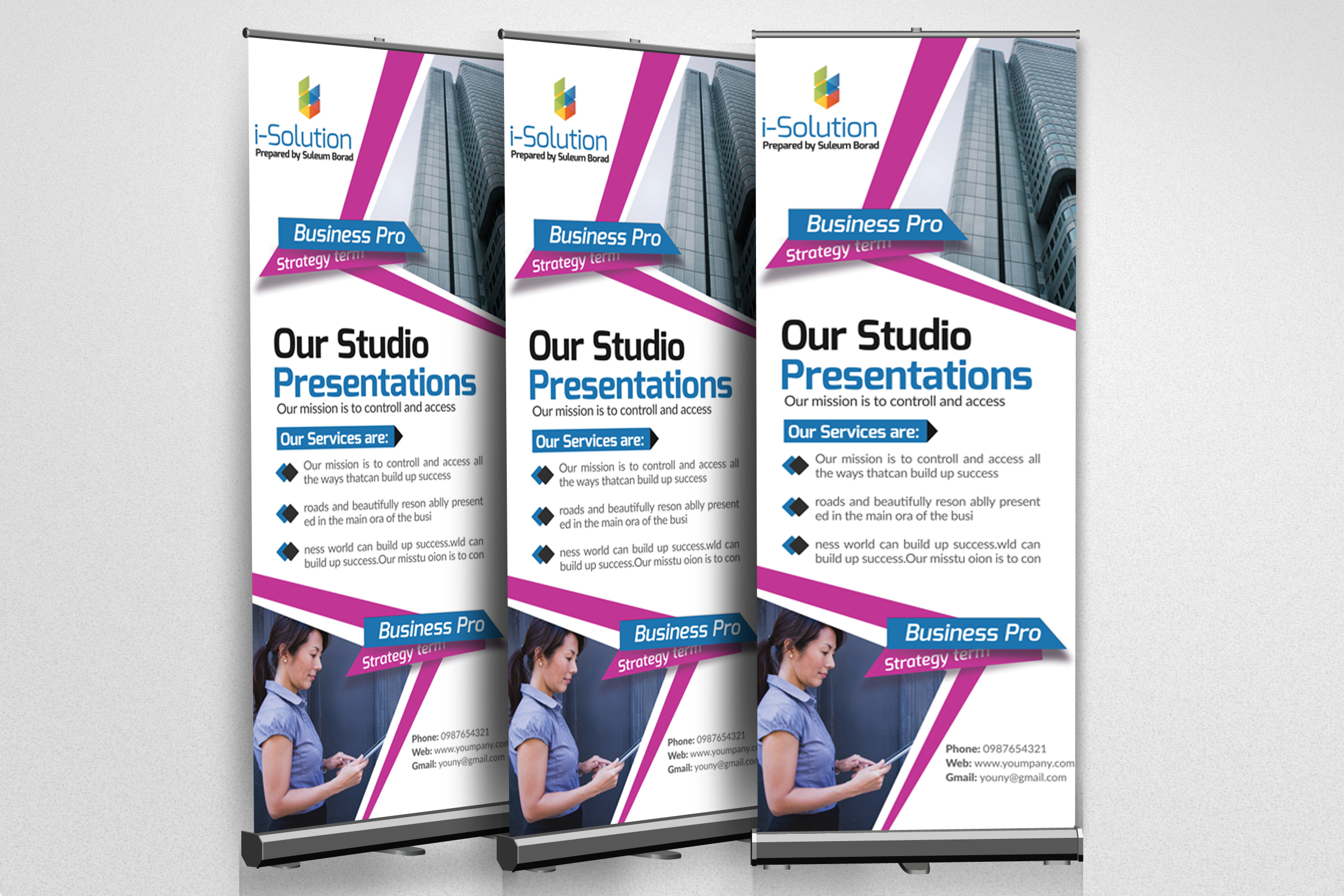 Business Multi Use Roll Up Banners example image 2