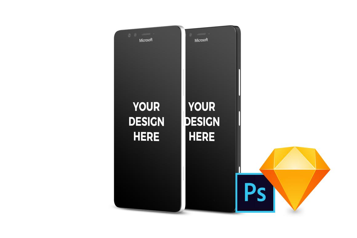 14x Microsoft Lumia 950 Mockups example image 1
