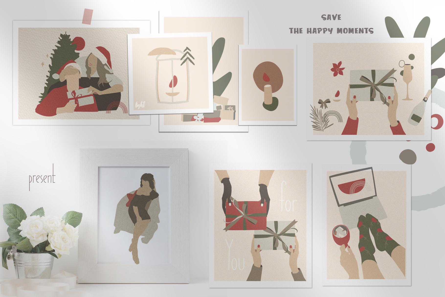 Christmas Secret Modern Graphic Set example image 4