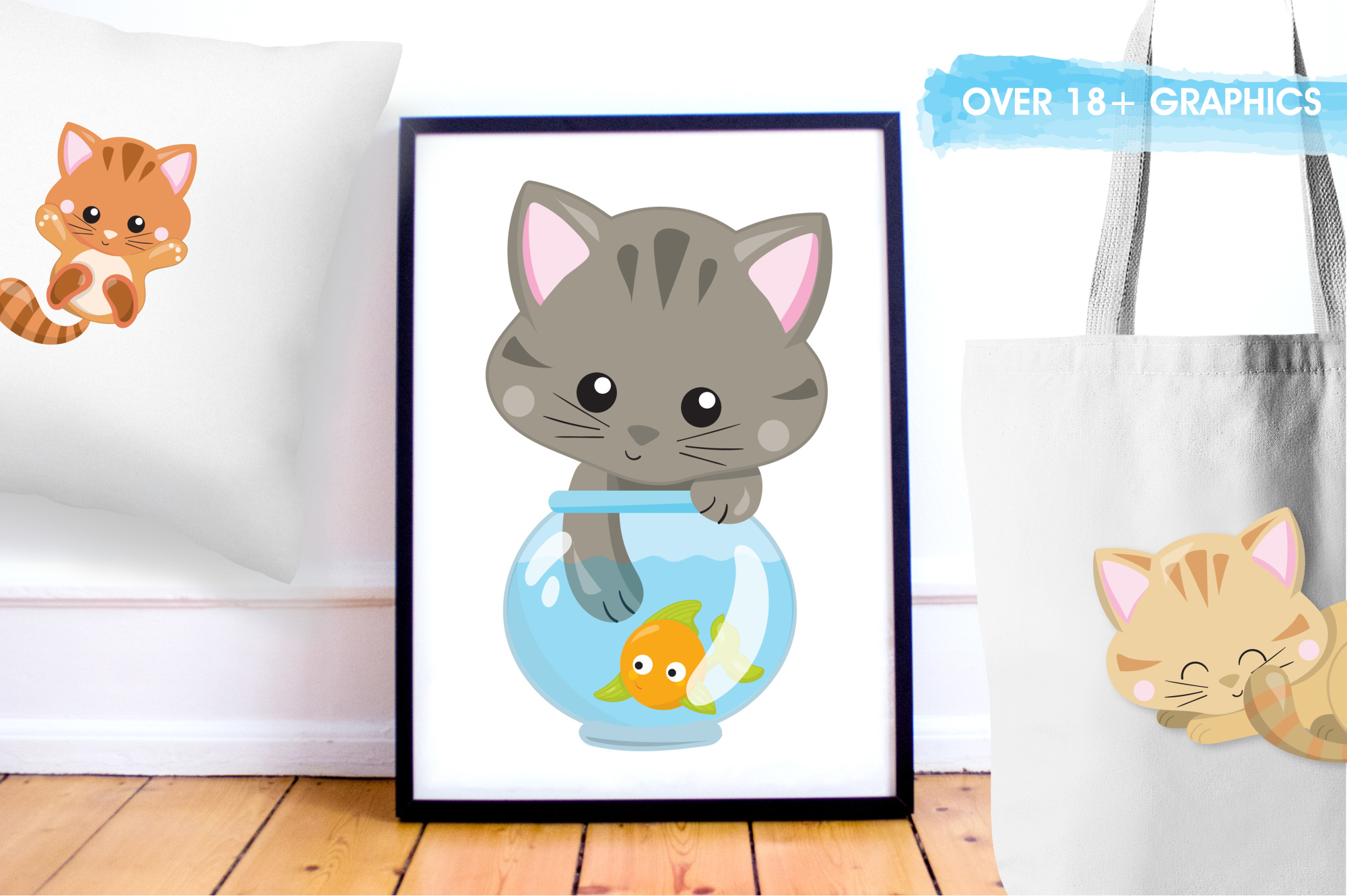 Adorable Kitties graphics and illustrations example image 5