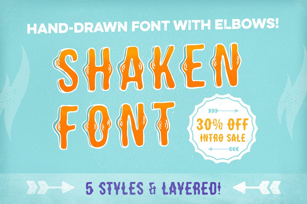 Shaken Font 5 Styles [30% off!] example image 1