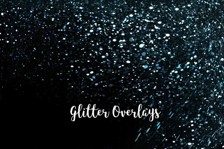 Glitter Dust Overlays, Glitter Bokeh Texture Overlays example image 7