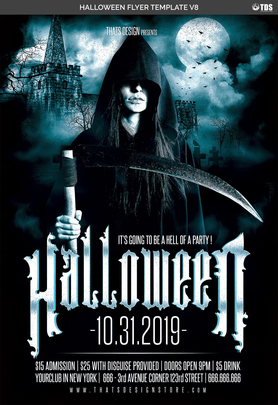 Halloween Flyer Template V8 example image 7