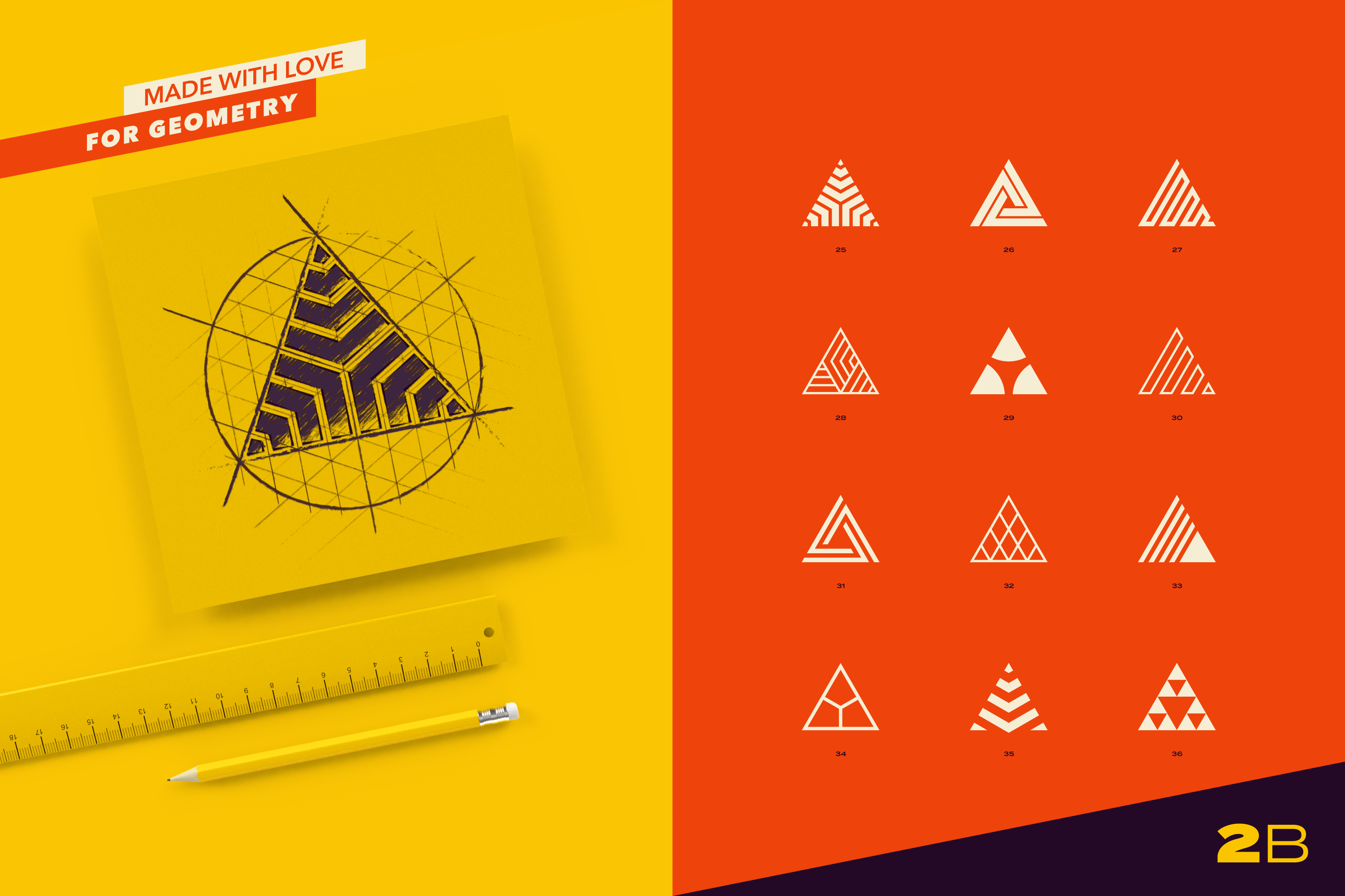 96 Abstract logo marks & geometric shapes collection example image 8