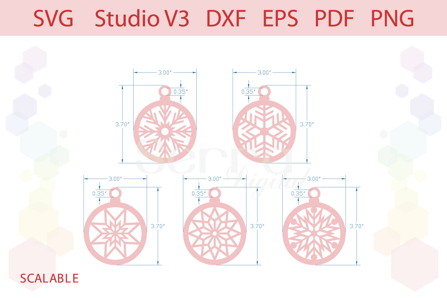 Christmas Ornaments Christmas gift tags cut file example image 2