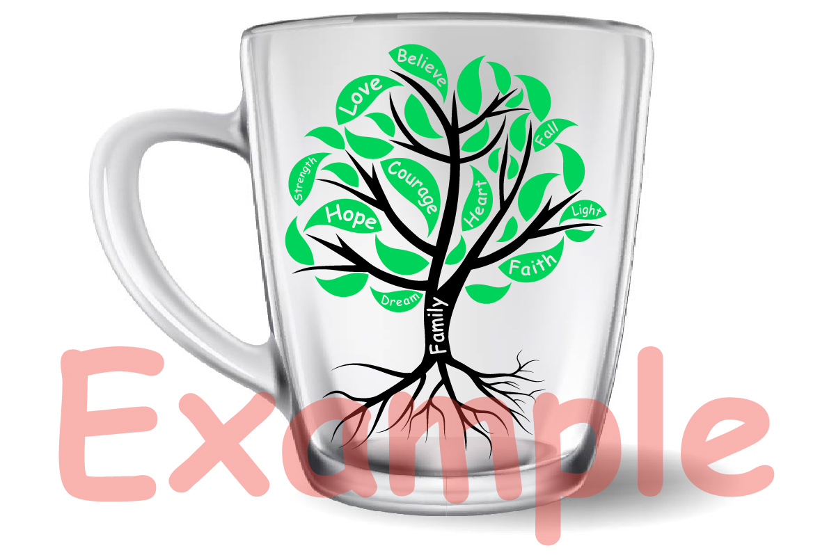 Family Tree love strength dream believe heart -751S example image 5