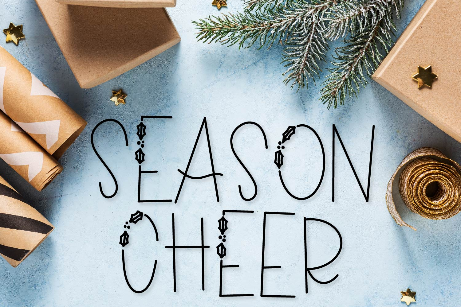 Holiday Tid-Bits - A Christmas Font with Berry Accents! example image 2