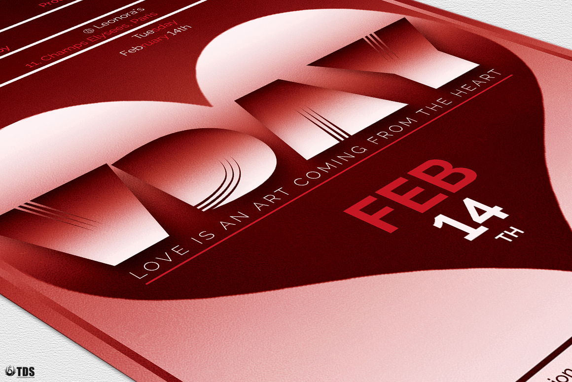 Valentines Day Flyer Template V11 example image 7