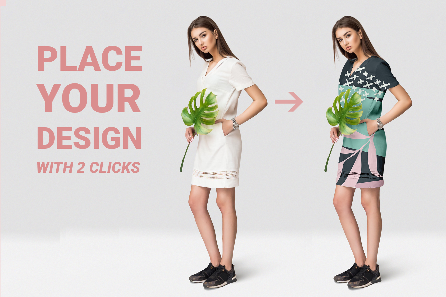 Female dress mockups Free demo example image 3