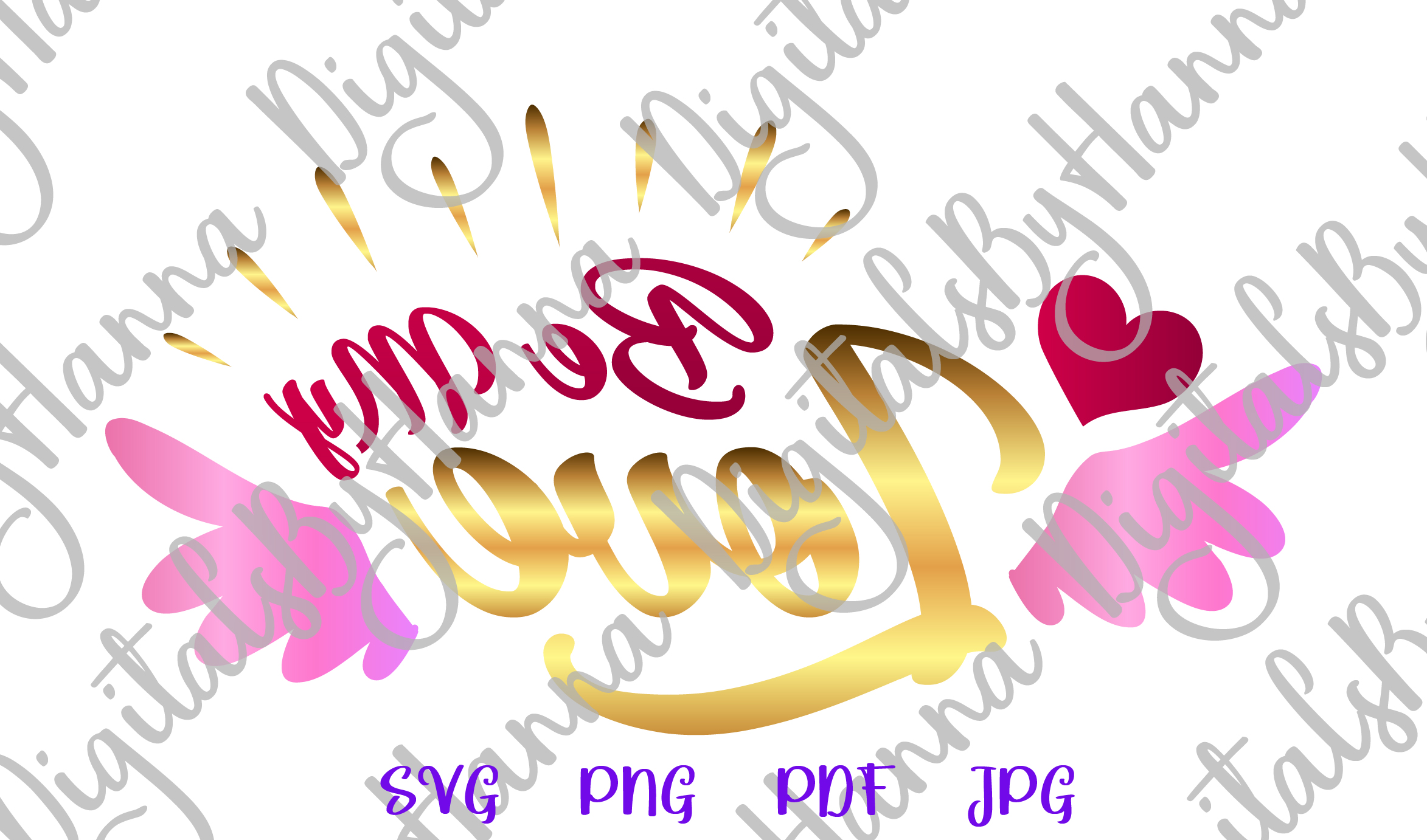 Be My Love Happy Valentines Day Sign Print & Cut PNG SVG example image 3
