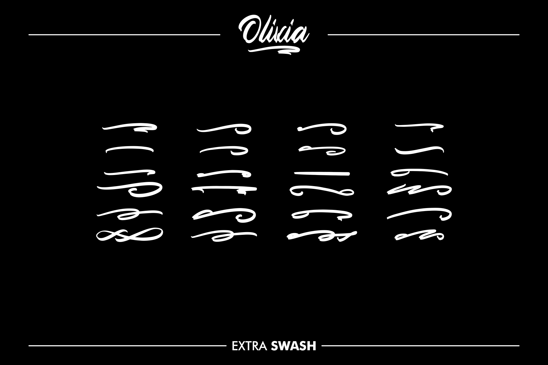 OLIVIA Handlettering Fonts example image 3