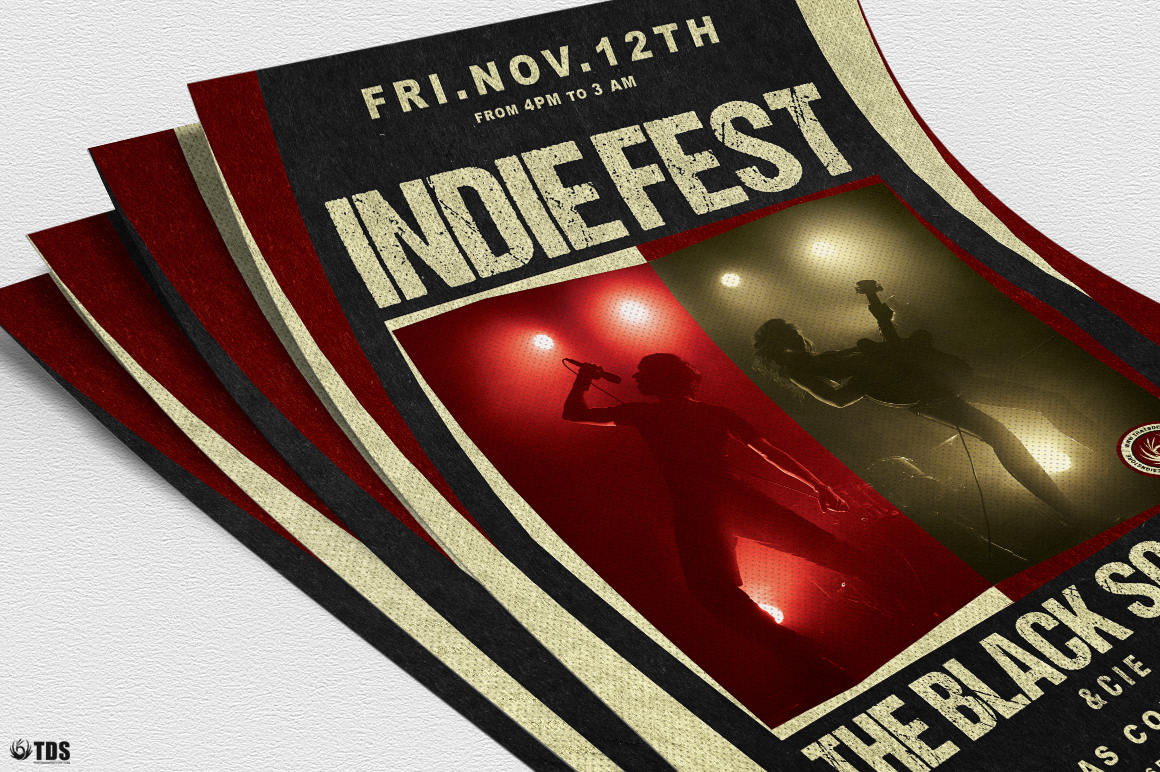 Indie Live Festival Flyer Template V4 example image 5