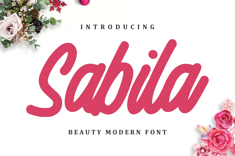 Sabila - Beauty Modern Font example image 1