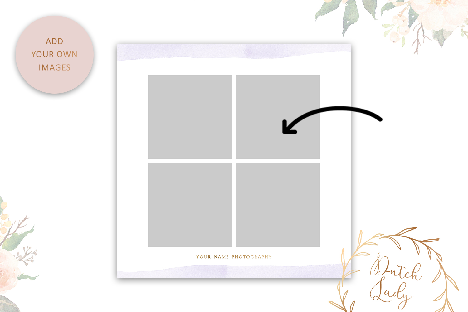 PSD Wedding Photo Session Advertising Card Template #4 example image 3