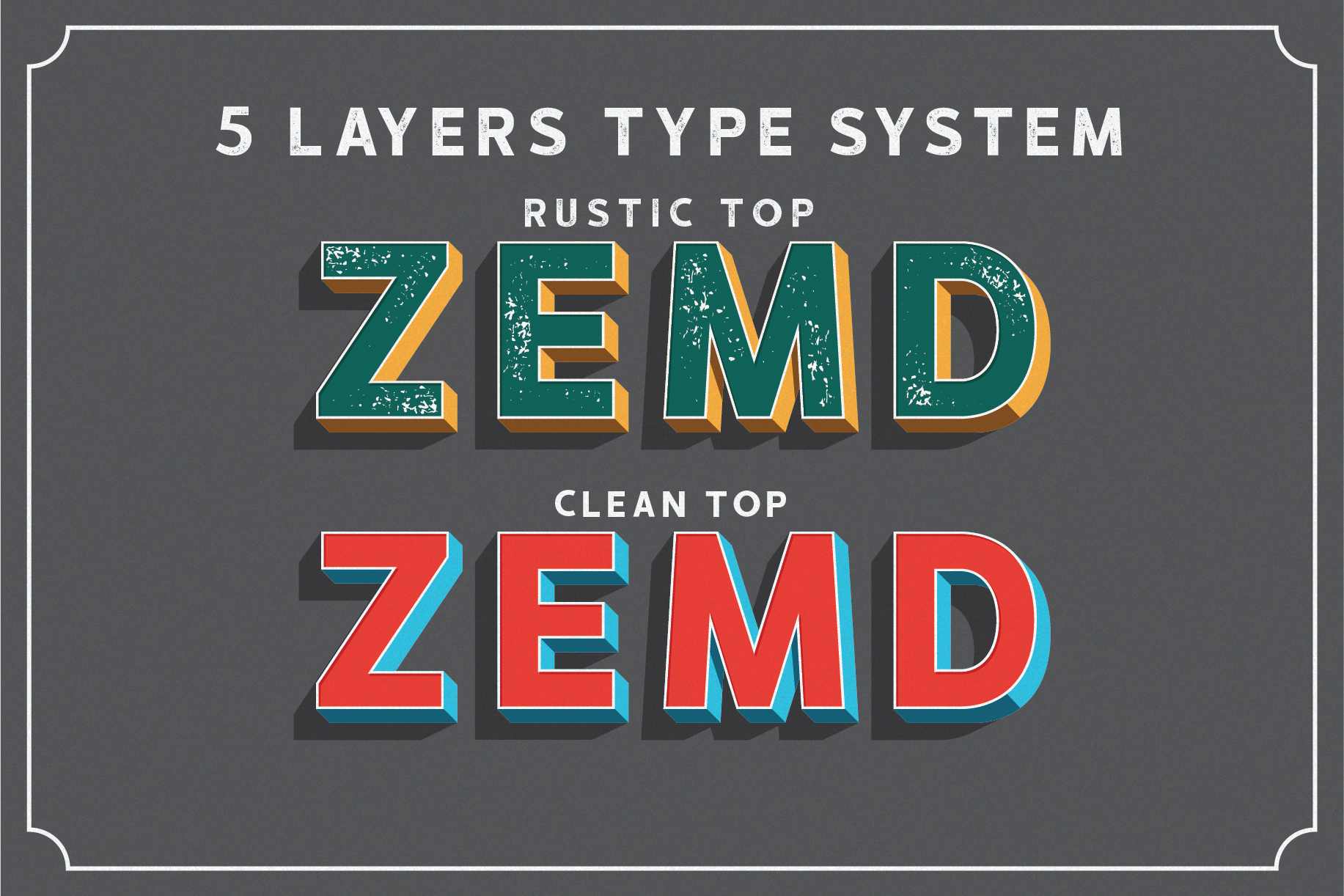 HUSTLE | 5 layers display font example image 2