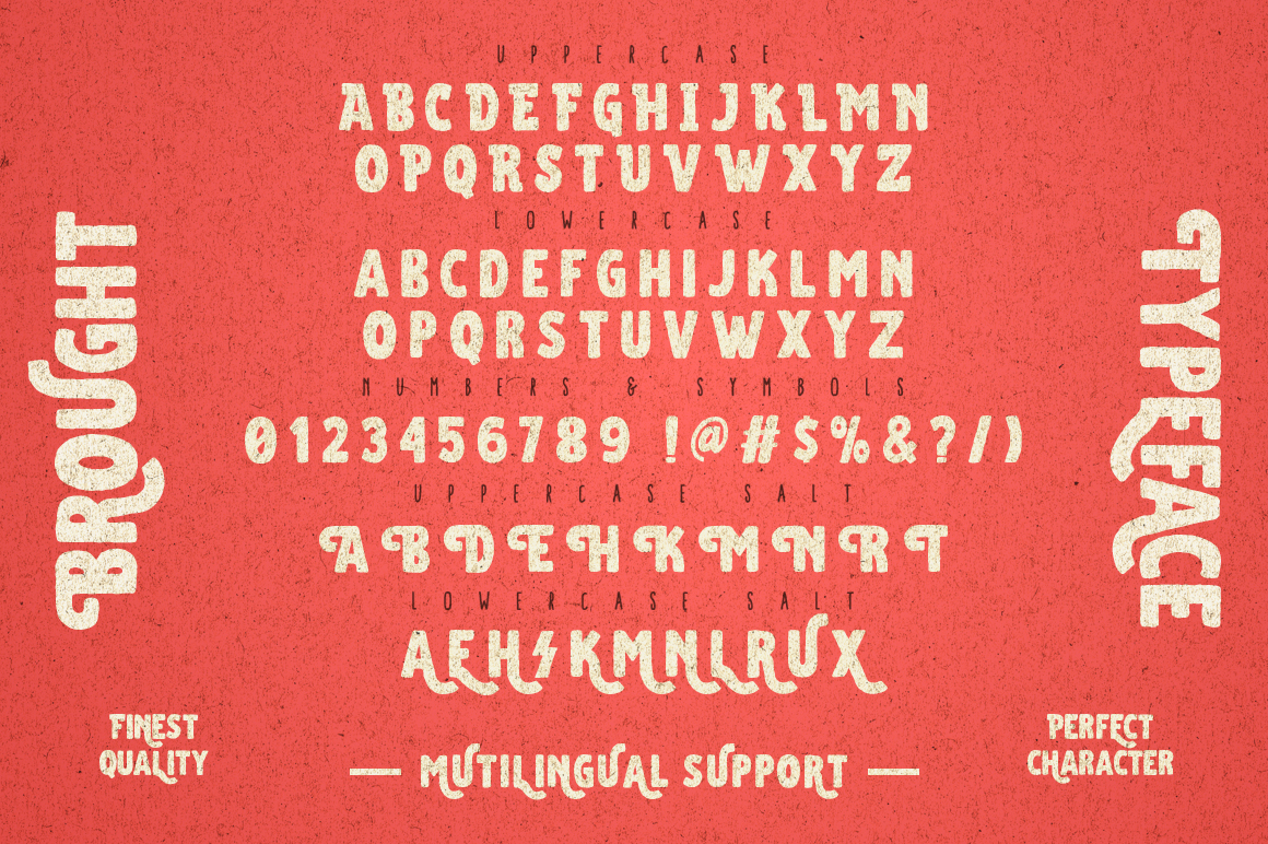 Brought Typeface example image 7