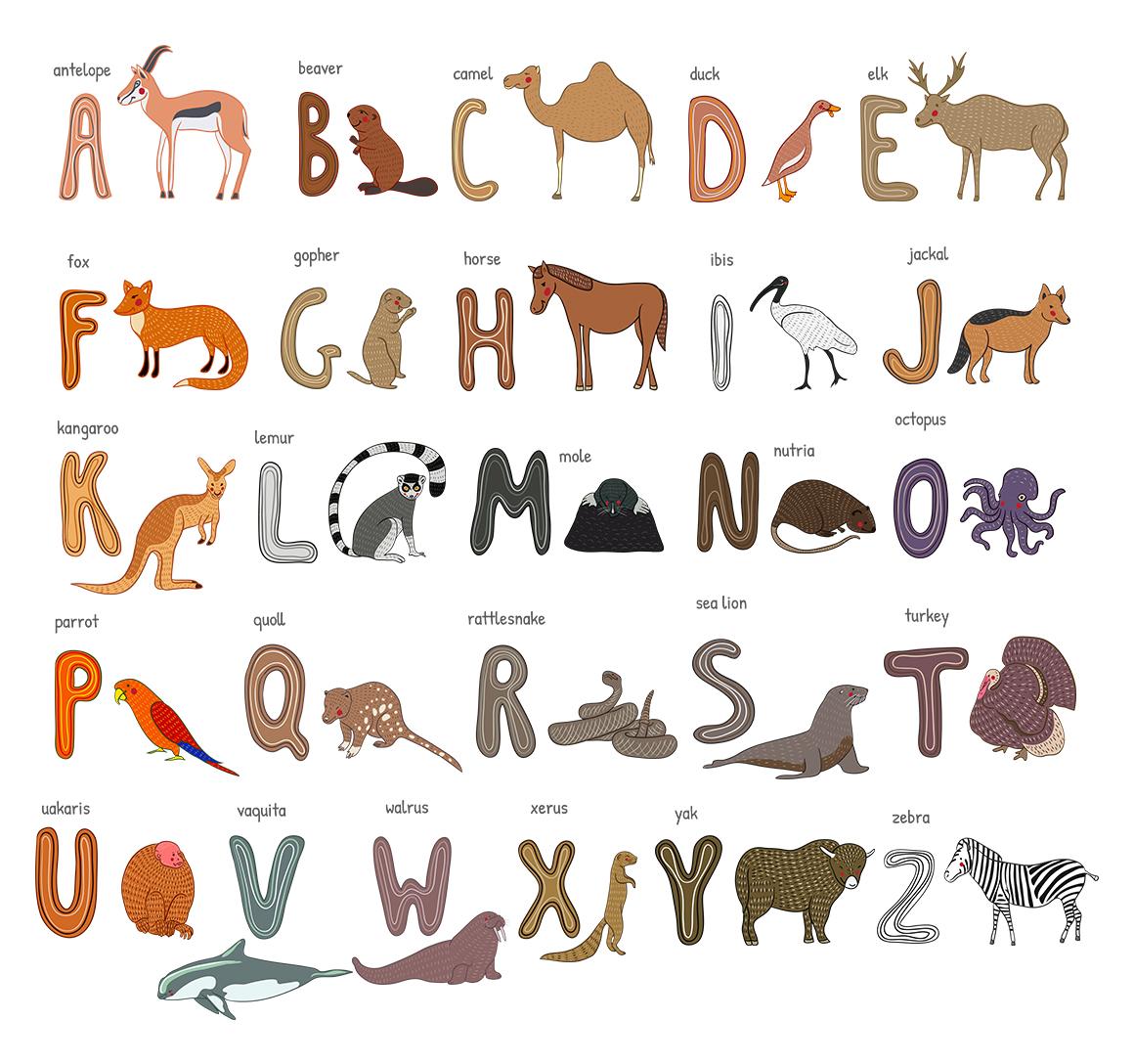Zoo alphabet example image 2