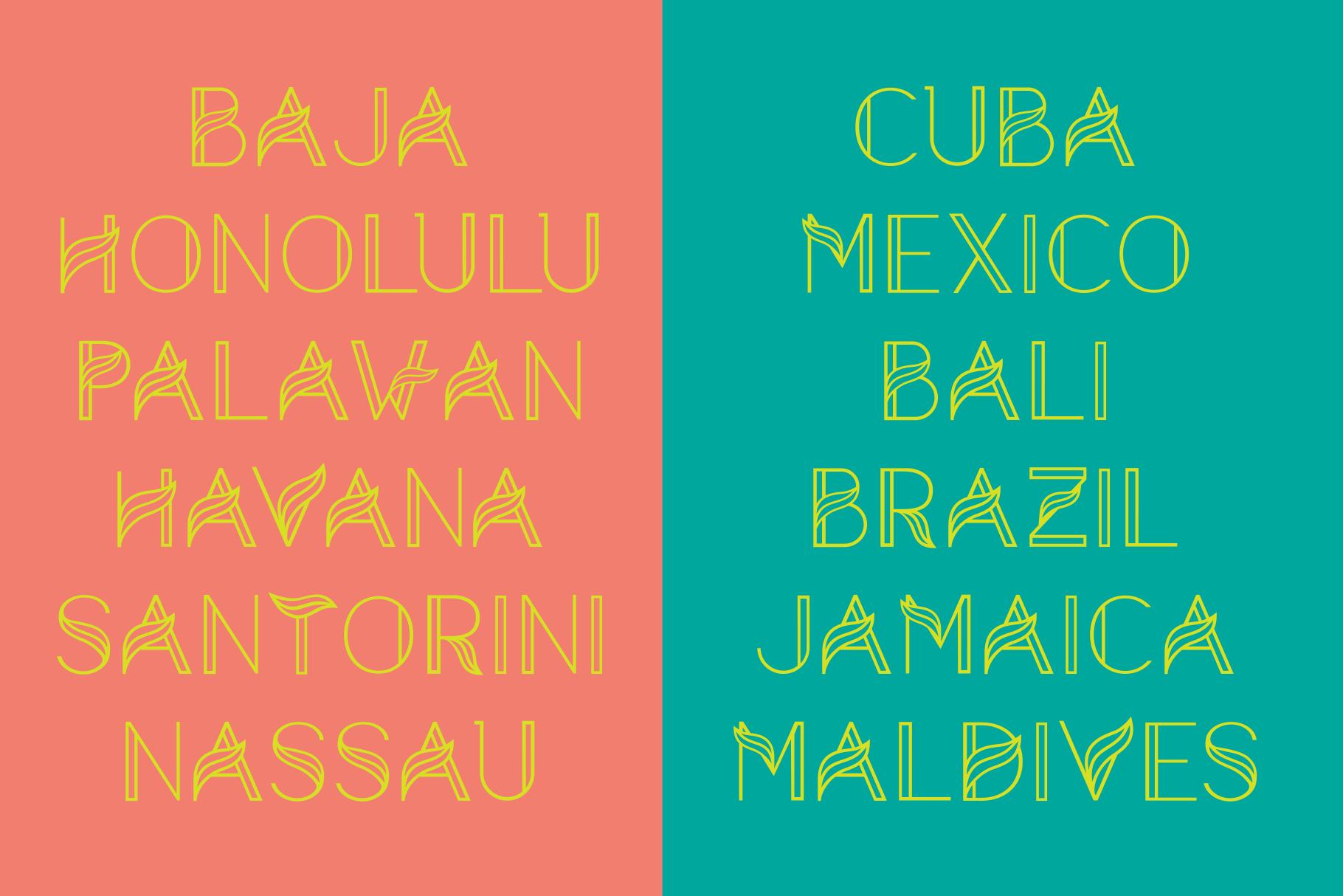 Aquarius - A Tropical & Elegant Font Family example image 6