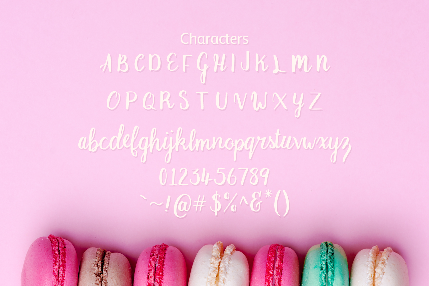 Macaron Moment - a sweet hand drawn script font example image 2