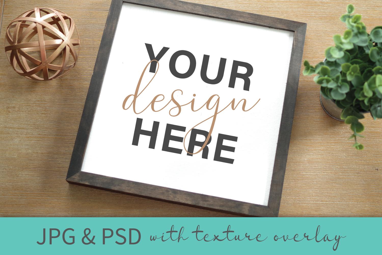 Mockup Bundle - Wineglass - Wood Sign - Pillow PSD JPG example image 2