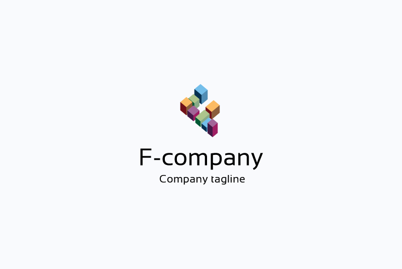F letter logo example image 1