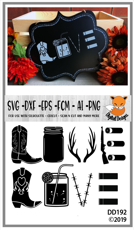 Download Cowboy Country Love SVG (111300) | Cut Files | Design Bundles