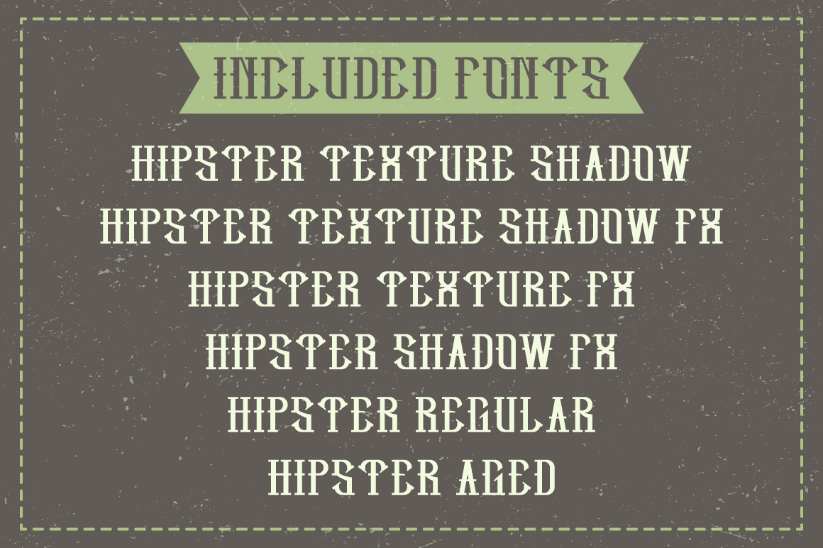 Hipster label typeface example image 6