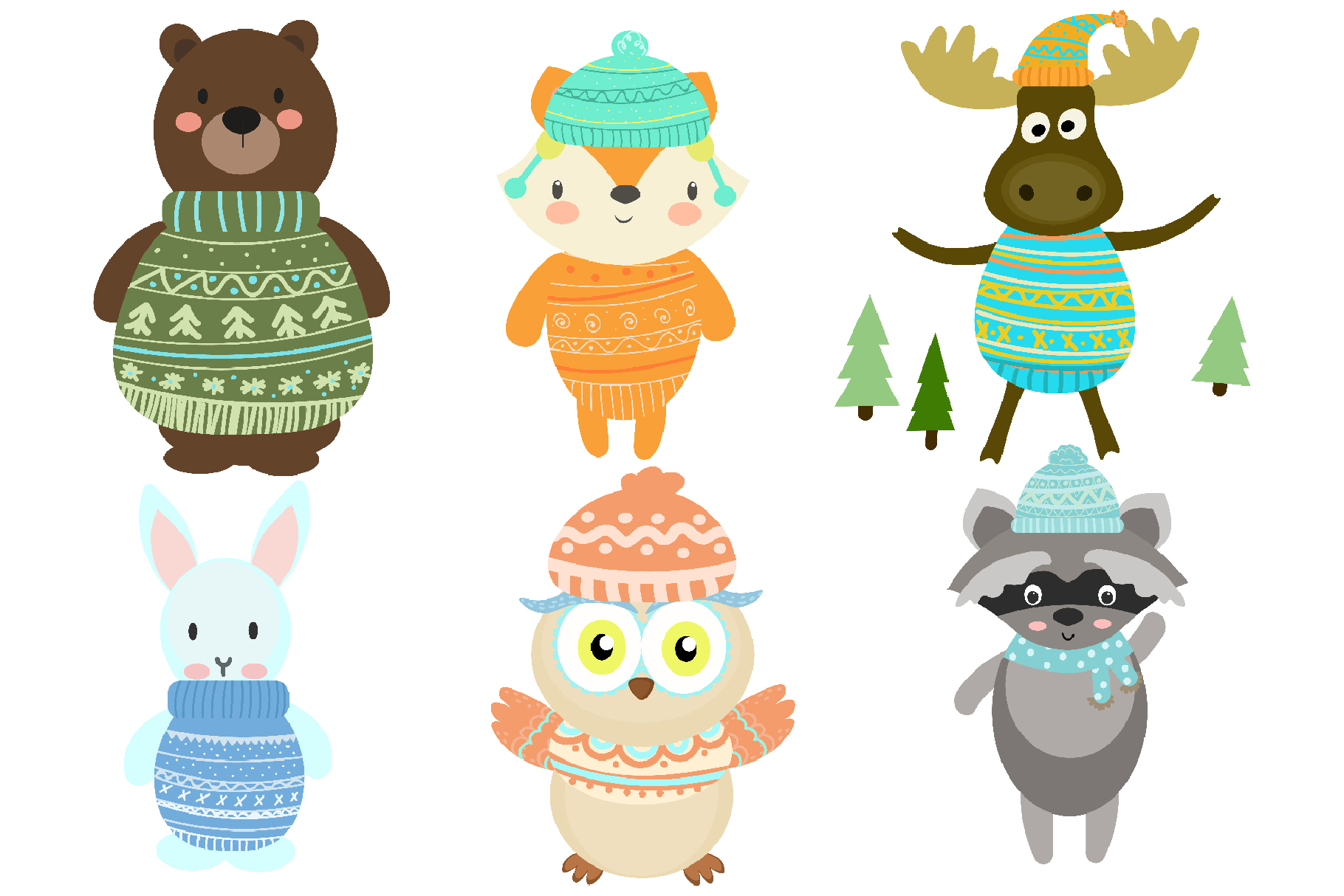 Winter Woodland Animals example image 2