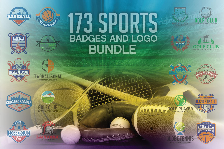 173 Sports Badges and Logo Bundle example image 1