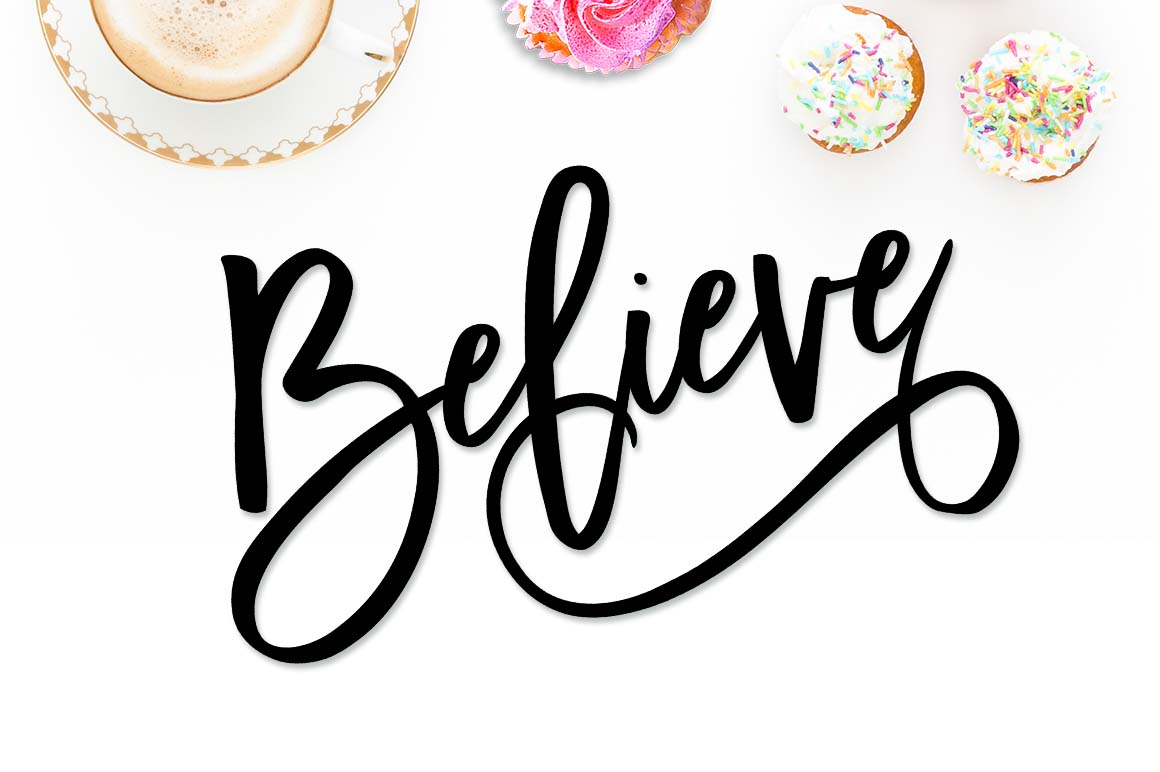 Believe SVG EPS PNG DXF example image 3