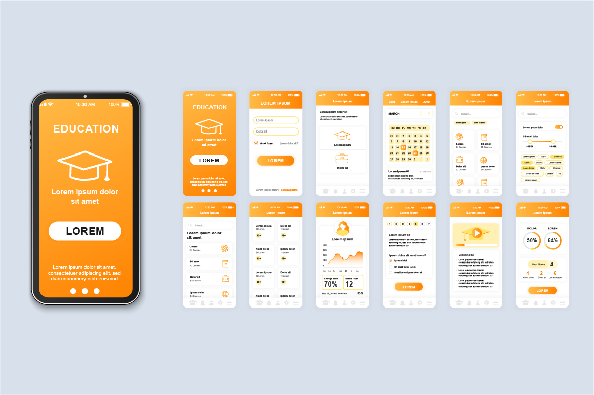 Bundle Mobile App UI Kit Screens example image 18
