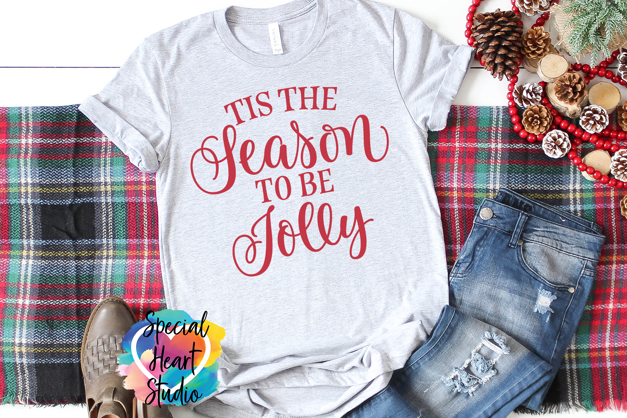 Tis The Season To Be Jolly - A Christmas SVG Cut File example image 1
