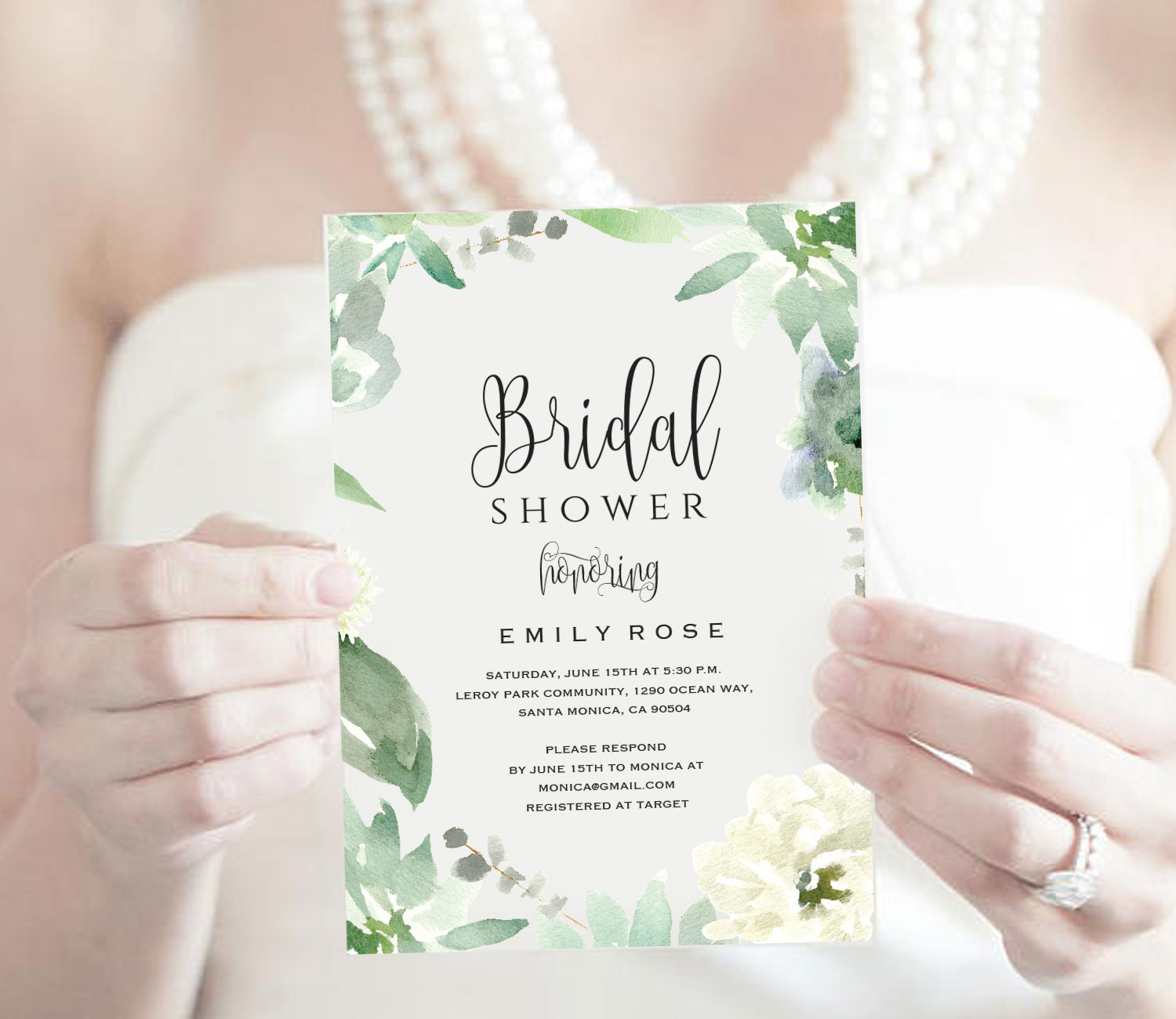 Bridal Shower Invitation Template example image 2