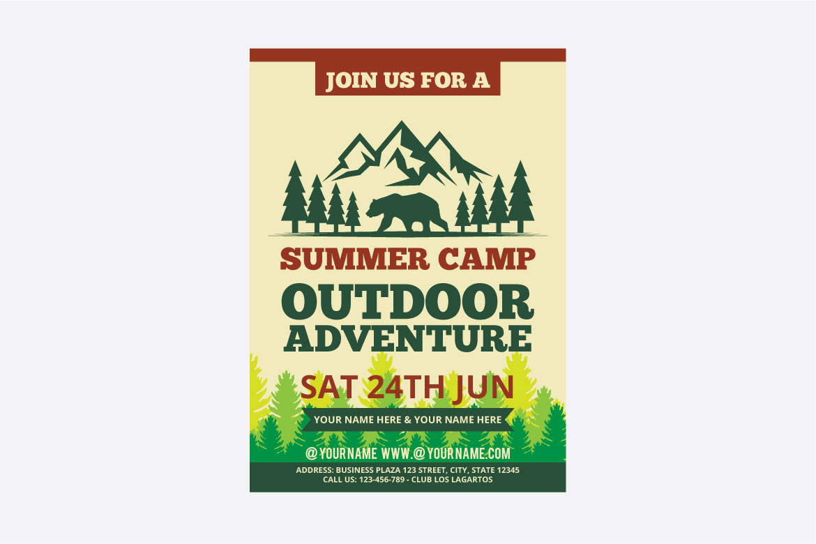 summer camp flyer example image 2