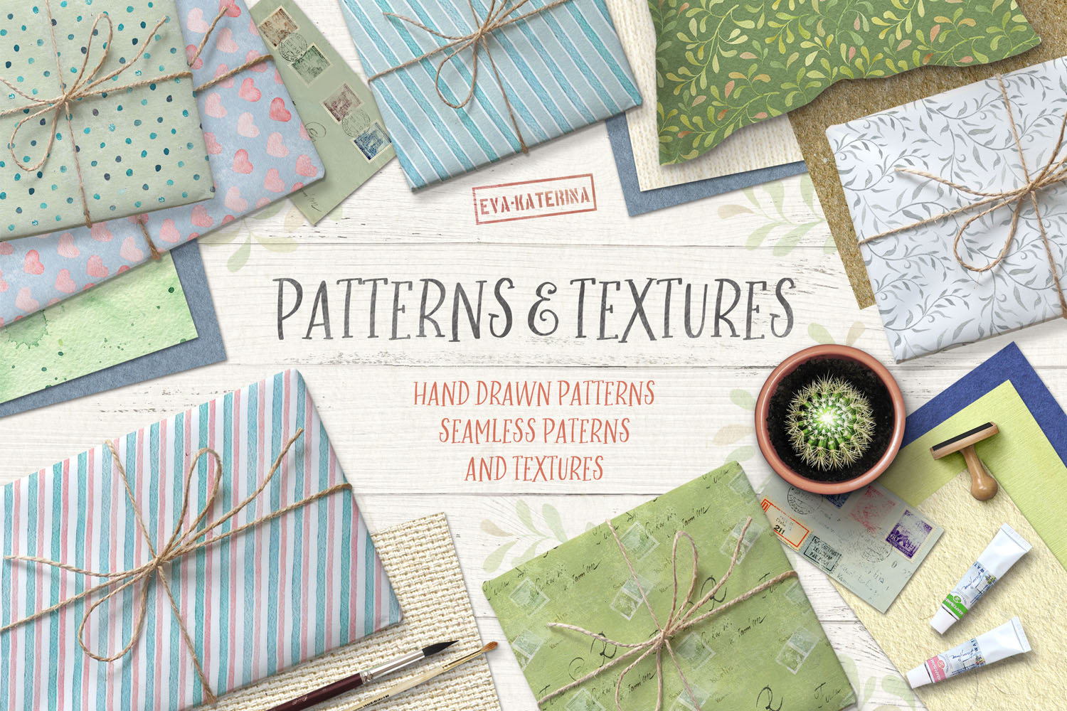 Watercolor Patterns and Textures example image 1