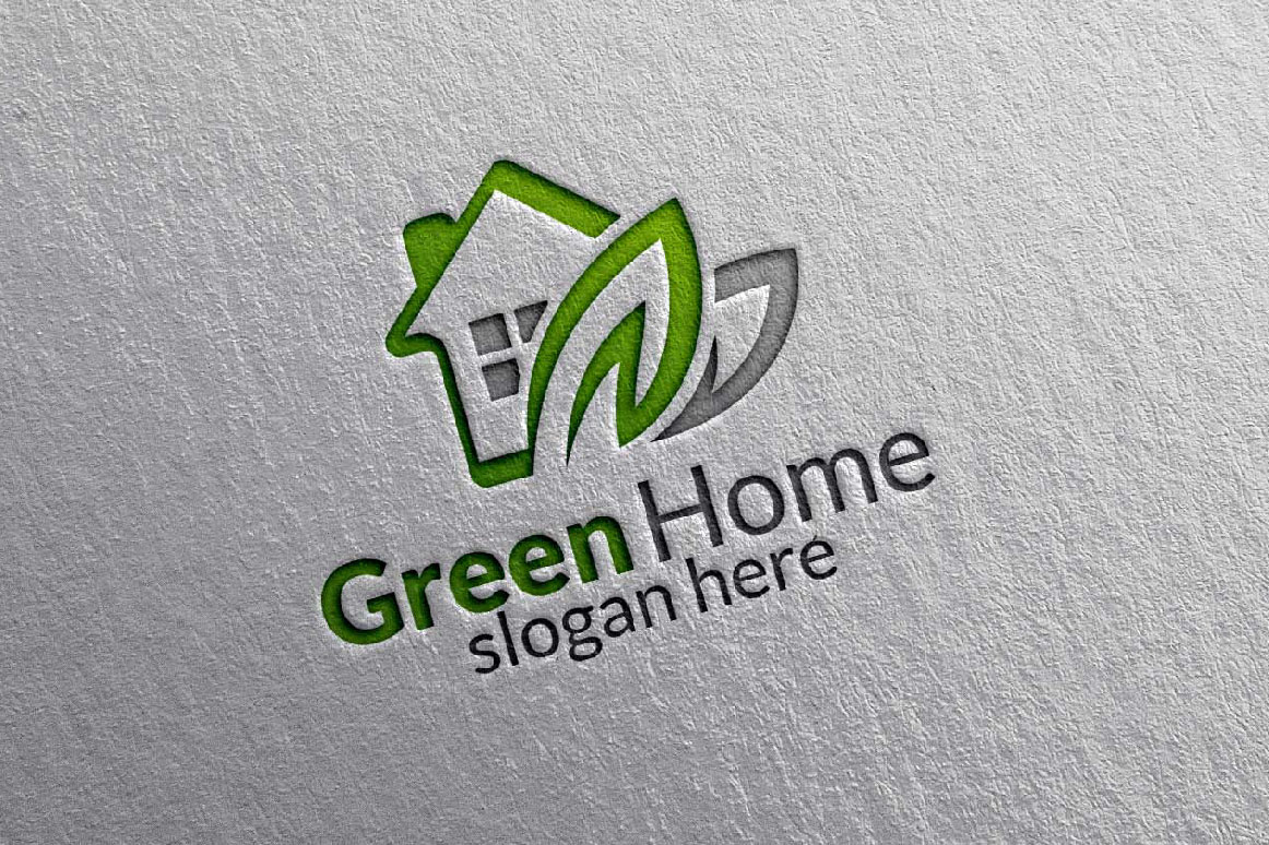 Real estate Logo, Green Home Logo 9 example image 5