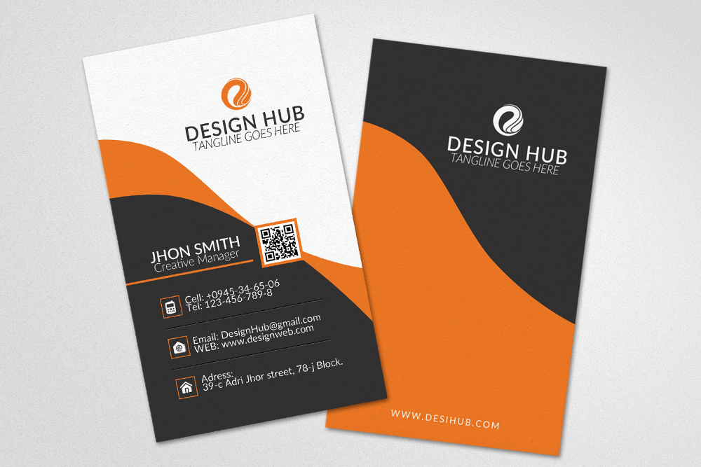 Vertical Business Card Template example image 3