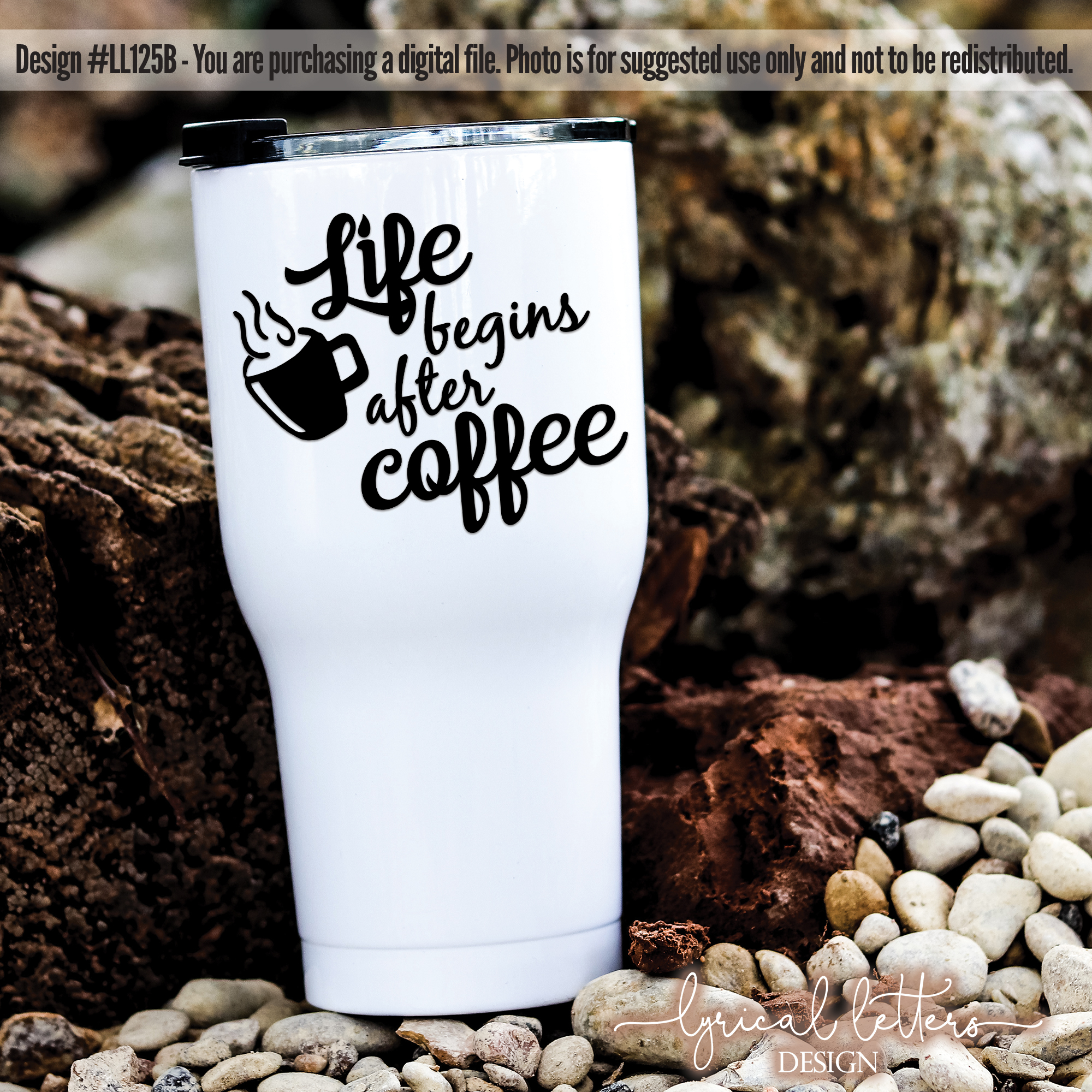 Life Begins After Coffee SVG Cut File LL125B example image 2