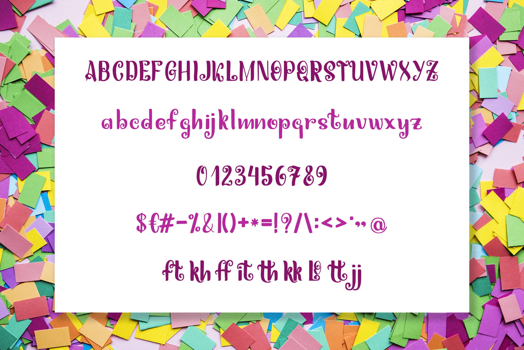 Miguelito - Hand Drawn Font example image 5