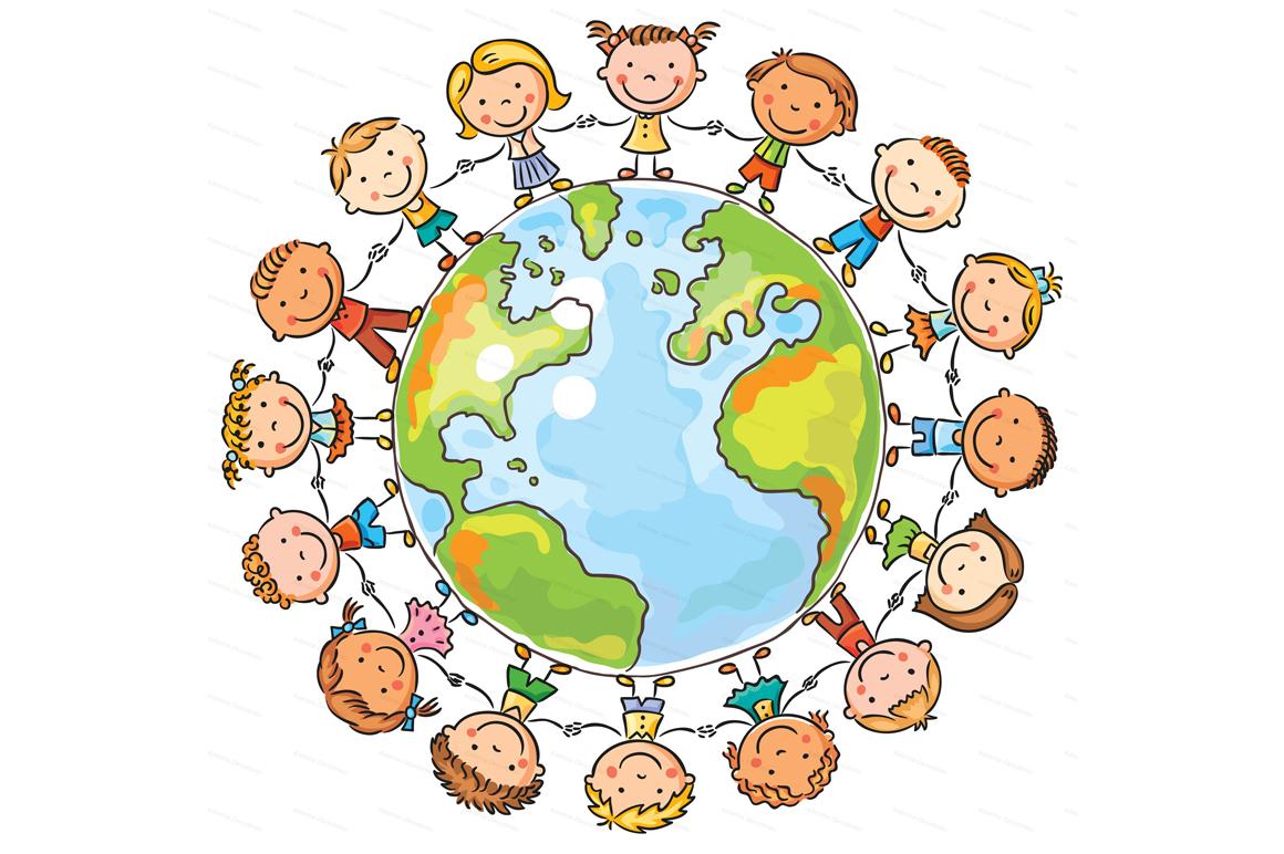 Happy Cartoon Kids Bundle, children doodle, kids doodle example image 9